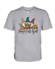 Gnomies Happy Fall Y'all Shirt V-Neck T-Shirt thumbnail