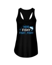 Here Fishy Fishy Fishy Shirt Ladies Flowy Tank thumbnail