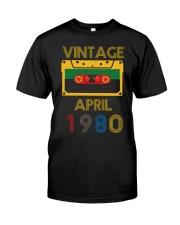 Video Tape Vintage April 1980 Shirt Classic T-Shirt front