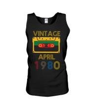 Video Tape Vintage April 1980 Shirt Unisex Tank thumbnail
