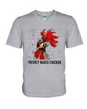 Freshly Baked Chicken Shirt V-Neck T-Shirt thumbnail