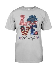 American Flag Sunflower Love Mimi Life Shirt Classic T-Shirt tile