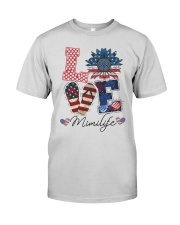 American Flag Sunflower Love Mimi Life Shirt Premium Fit Mens Tee thumbnail