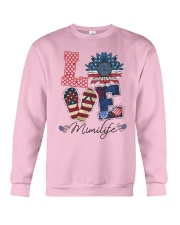 American Flag Sunflower Love Mimi Life Shirt Crewneck Sweatshirt thumbnail