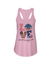 American Flag Sunflower Love Mimi Life Shirt Ladies Flowy Tank thumbnail
