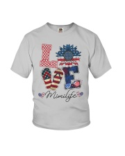 American Flag Sunflower Love Mimi Life Shirt Youth T-Shirt thumbnail