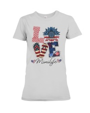 American Flag Sunflower Love Mimi Life Shirt Premium Fit Ladies Tee thumbnail