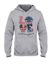 American Flag Sunflower Love Mimi Life Shirt Hooded Sweatshirt thumbnail
