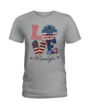 American Flag Sunflower Love Mimi Life Shirt Ladies T-Shirt thumbnail