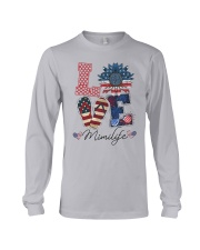 American Flag Sunflower Love Mimi Life Shirt Long Sleeve Tee thumbnail