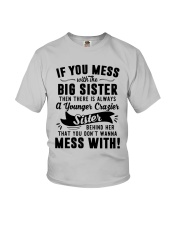If You Mess With The Big Sister Then Cazier Shirt Youth T-Shirt thumbnail