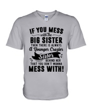 If You Mess With The Big Sister Then Cazier Shirt V-Neck T-Shirt thumbnail