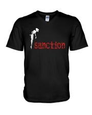Sanction How Much Longer Will I Witness Shirt V-Neck T-Shirt thumbnail