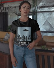 Ufo I Want To Smoke Weed Shirt Classic T-Shirt apparel-classic-tshirt-lifestyle-05