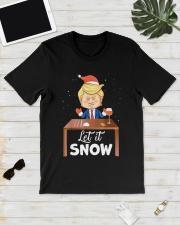 Ugly Christmas Trump Cocaine Let It Snow Shirt Classic T-Shirt lifestyle-mens-crewneck-front-17