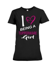 I Love Being A Tupperware Girl Shirt Premium Fit Ladies Tee thumbnail