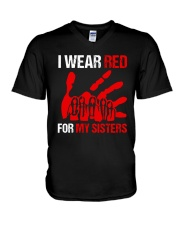 I Wear Red For My Sisters Shirt V-Neck T-Shirt thumbnail