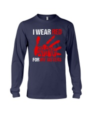 I Wear Red For My Sisters Shirt Long Sleeve Tee thumbnail