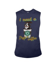 Bernese Mountain I Need A Pup Of Coffee Shirt Sleeveless Tee tile