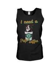 Bernese Mountain I Need A Pup Of Coffee Shirt Unisex Tank thumbnail