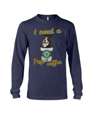 Bernese Mountain I Need A Pup Of Coffee Shirt Long Sleeve Tee tile