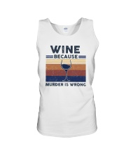 Vintage Wine Because Murder Is Wrong Shirt Unisex Tank thumbnail