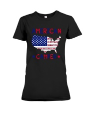 Independence Day 4th Of July American Shirt Premium Fit Ladies Tee thumbnail