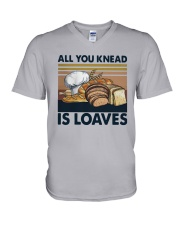 Vintage All You Knead Is Loaves Shirt V-Neck T-Shirt thumbnail