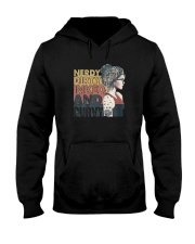 Vintage Girl Nerdy Dirty Inked And Curvy Shirt Hooded Sweatshirt tile
