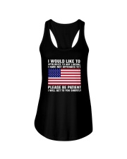 American Flag I Would Like To Apologize Any Shirt Ladies Flowy Tank thumbnail