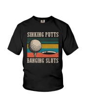 Vintage Golf Sinking Putts Bangin Sluts Shirt Youth T-Shirt thumbnail