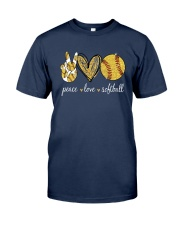 Peace Love Softball Shirt Classic T-Shirt tile
