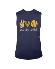 Peace Love Softball Shirt Sleeveless Tee thumbnail