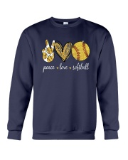 Peace Love Softball Shirt Crewneck Sweatshirt thumbnail