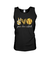 Peace Love Softball Shirt Unisex Tank thumbnail