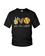 Peace Love Softball Shirt Youth T-Shirt thumbnail