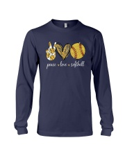 Peace Love Softball Shirt Long Sleeve Tee thumbnail