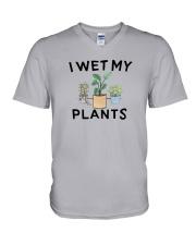 I Wet My Plants Shirt V-Neck T-Shirt thumbnail