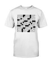 Spot On A Shirt Crossword Clue Classic T-Shirt front