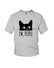 Black Cat Ew People Shirt Youth T-Shirt tile