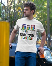 Owls Dare To Be Yourself Shirt Classic T-Shirt apparel-classic-tshirt-lifestyle-front-44