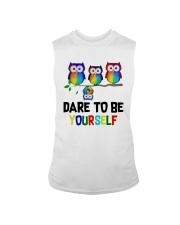 Owls Dare To Be Yourself Shirt Sleeveless Tee thumbnail