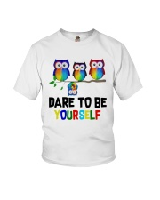 Owls Dare To Be Yourself Shirt Youth T-Shirt thumbnail