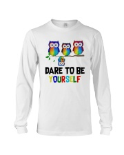 Owls Dare To Be Yourself Shirt Long Sleeve Tee thumbnail