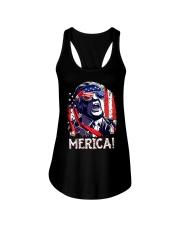 American Flag Trump Merica Shirt Ladies Flowy Tank thumbnail