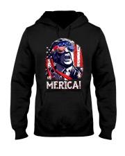 American Flag Trump Merica Shirt Hooded Sweatshirt thumbnail