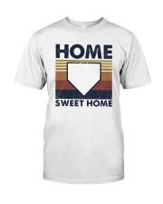Vintage Baseball Home Sweet Home Shirt Classic T-Shirt front