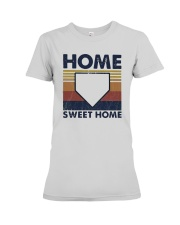 Vintage Baseball Home Sweet Home Shirt Premium Fit Ladies Tee thumbnail