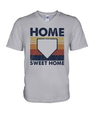 Vintage Baseball Home Sweet Home Shirt V-Neck T-Shirt thumbnail