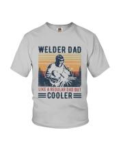 Vintage Welder Dad Like A Regular Dad But Shirt Youth T-Shirt thumbnail